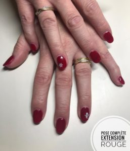 Pose complète extension rouge