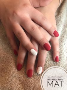 Semi-permanent effet pull rouge mat